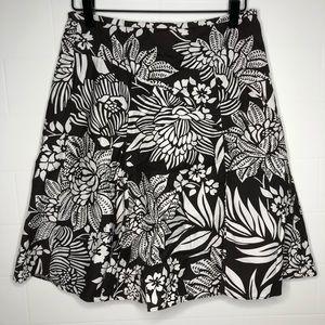 ANN TAYLOR / floral flare skirt